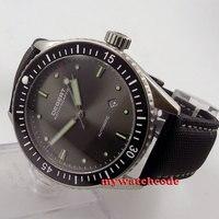 43 мм Debert серый циферблат керамический Безель сапфировое Miyota автоматические мужские часы D35