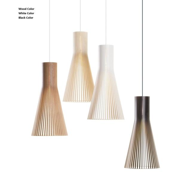 Modern Hanglamp Wood Pendant Lamps For Living Room Wooden Abajur Pendant Light Nordic Dinning Room Suspension luminaire Loft