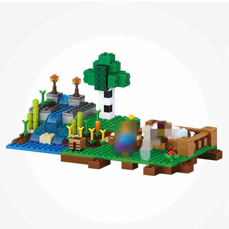 Minecraft Steve Zombie Farm Building Blocks 262 Pcs MEU Mundo Figuras Brinquedos Para O Miúdo Com Minecrafted Criador
