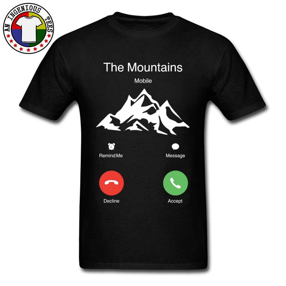 The Mountains Are Calling Mobile T Shirt Stay Wild I Must Go Hiking Leisure Vintage Summer Tops & Tees Mount Big Clothes Men
