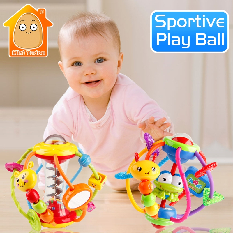 Baby Rattle Aktivitet Ball Rattles Educational Leker For Babyer Grasping Ball Puzzle Playgro Baby Leker 0-12 Måneder Klatre Læring