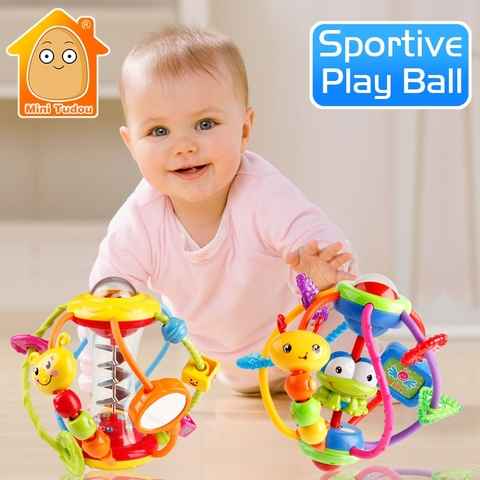 Baby Rattle Activity Ball Rattles Educational Toys For Babies Grasping Ball Puzzle Playgro Baby Toys 0-12 Months climb Learning Pakistan