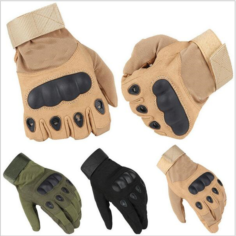 New Military Tactical Gloves Outdoor Sports Full Finger Motorcycle Non-slip Carbon Fiber Tortoiseshell Gloves