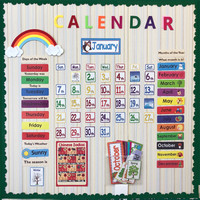 148PCS/Set Date Month Holiday Calendar Time Wall Solar Term Weather Management Kids learn English word Cards for Children Baby