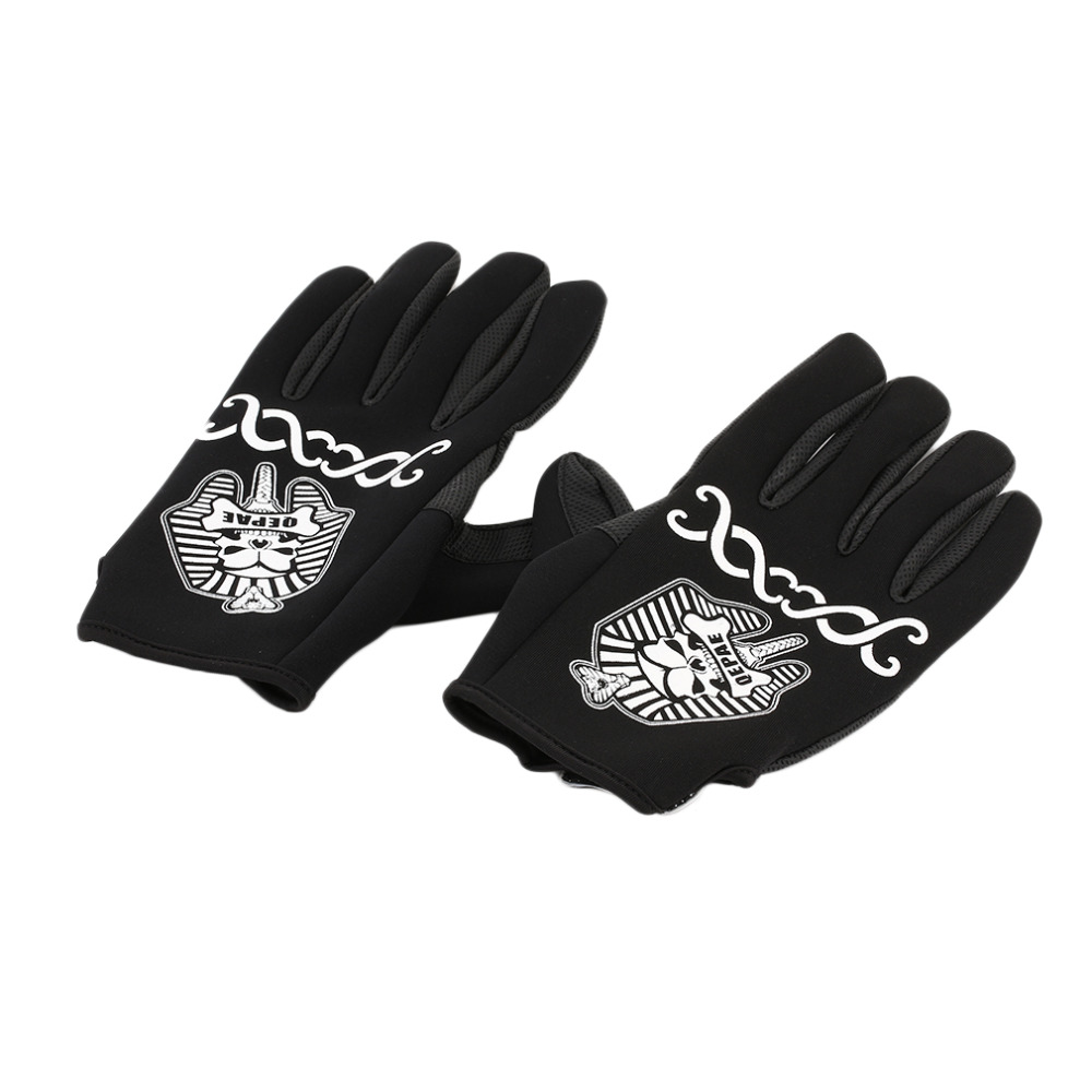 1 Pair Pharaoh Pattern Man Woman Cycling Gloves Cashmere Outdoor Sports Motorcycle Equipment Racing Windproof Warm Gloves Top