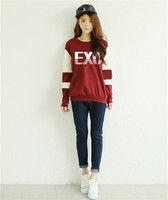 EXO 2017 Casual Kpop Sweatshirt Pullovers Harajuku Couple Clothes Letters Number Print Hoodies Long Sleeve Sweatshirts Clothing