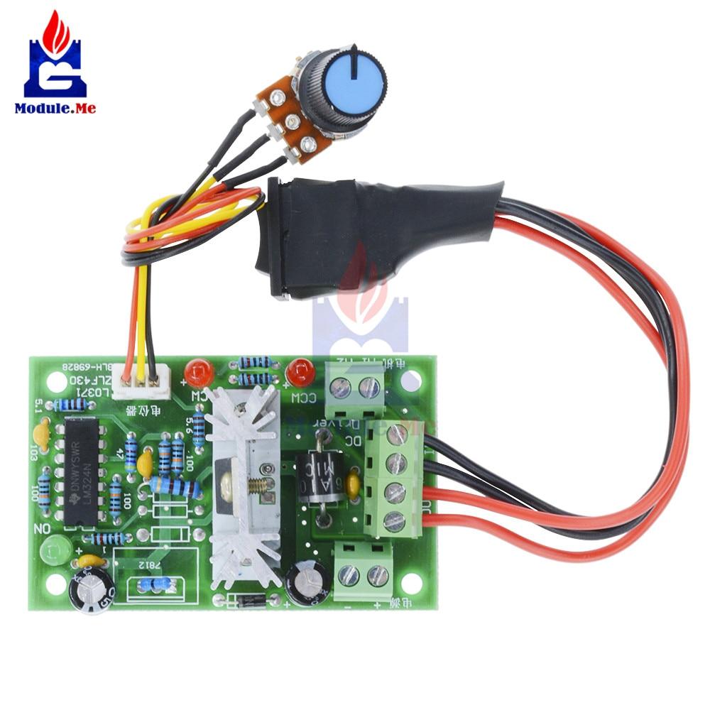 H1 6V 12V 24V 3A PWM DC Motor Speed Controller Forward Reverse Switch Control 12