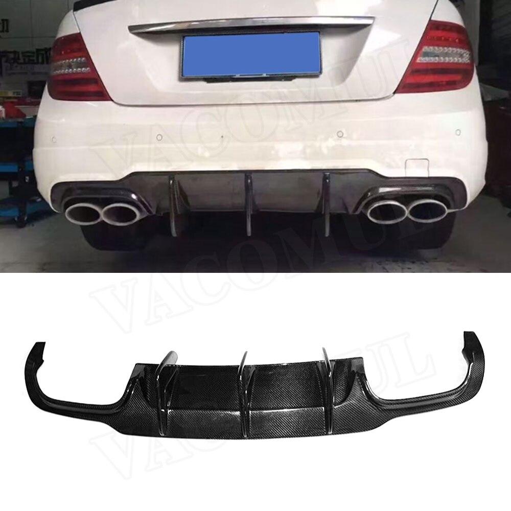 Becquet de diffuseur de lèvre de pare-chocs arrière de Fiber de carbone de classe C/FRP pour Benz W204 C63 AMG C300 Sport 2012-2014