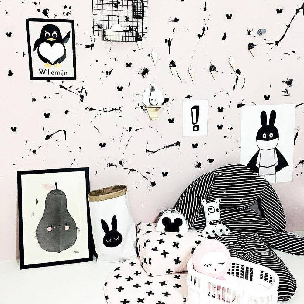INS królik dziecko koc paski maty poduszki dla dzieci grać dywaniki - Pościel - Zdjęcie 4