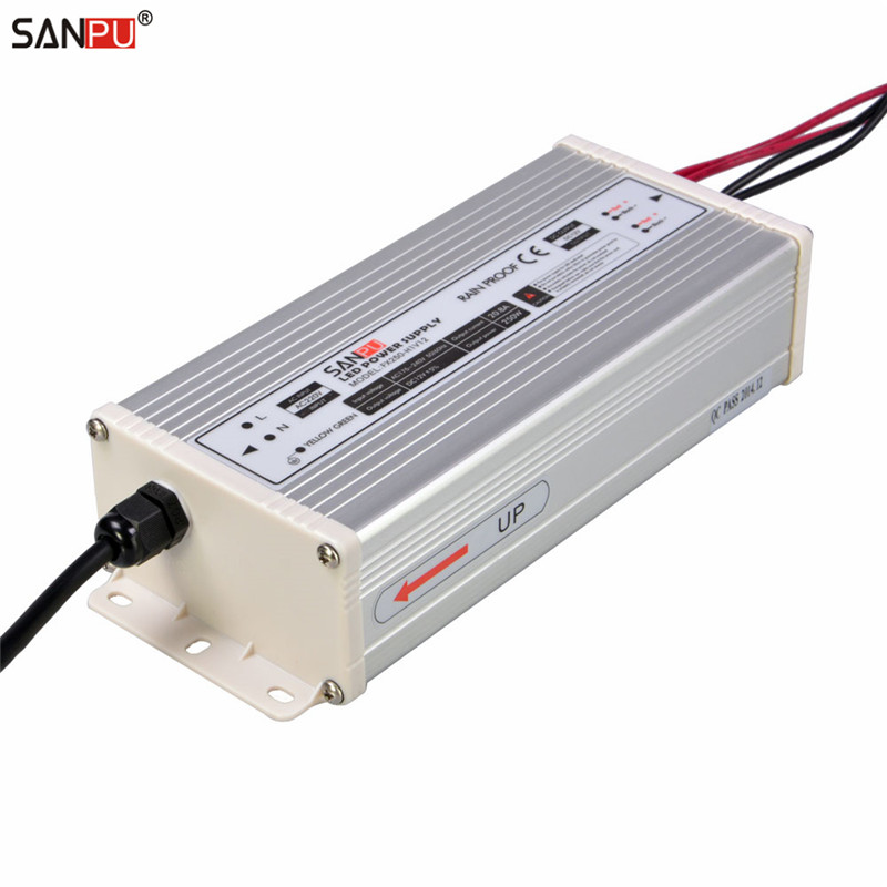 SANPU SMPS 12v 250w LED Driver 20a Constant Voltage Switching Power Supply 220v 230v ac dc Lighting Transformer Rain proof IP63 dhl free ship 250w waterproof led power supply ac90 250v to 12v 24v output constant voltage driver 2 year warranty transformer