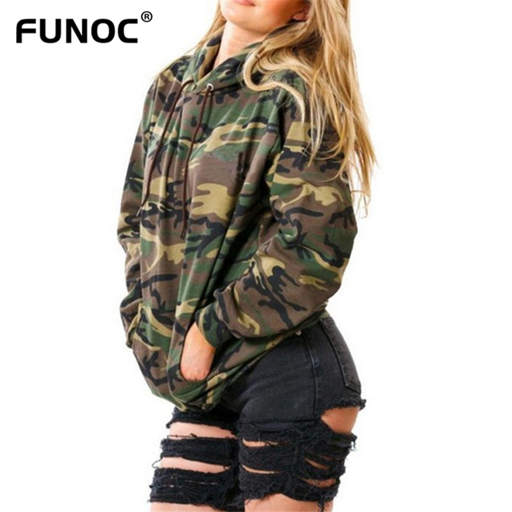 Funoc Camouflage Hoodies Women Long Sleeve Pockets Sweatshirt Camo Army Hip  Hop Streetwear Hoodies Pullover Female - Online Get Cheap Camouflage Hoodies For Women -Aliexpress.com