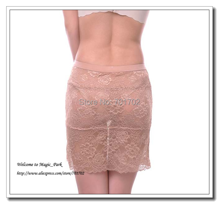 Sexy Lace Skirt For Women Ladies Above Knee Floral Skirts Dress With Panty Dobby A-Line Above Knee Hollow Out Black Beige.jpg