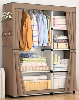 Fashion design DIY Non-woven anti-dust  Reinforced Steel Frame Easy Disassembly Combination Wardrobe Storage Folding YY-18