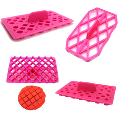 Topo losango bowknot coração forma de flor fondant bolo sugarcraft ferramenta equipamento embosser cortador de gelo embosser molde aleatório