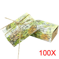 100pcs Around The World Map Favor Boxes For Traveling Theme Wedding Decoration Gift Kraft Party Candy
