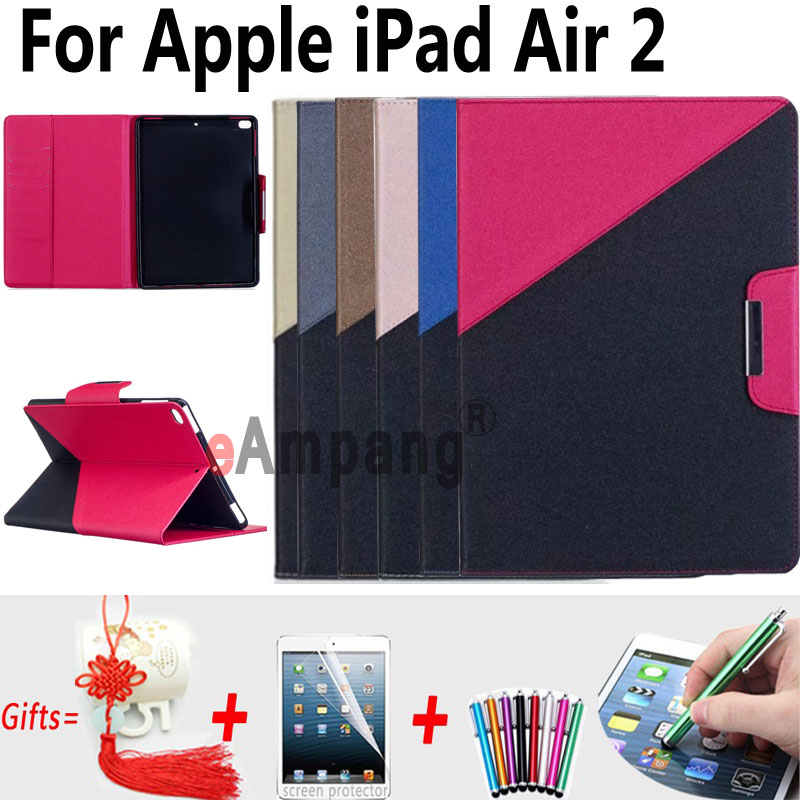 Magnetic Smart Cover Case for iPad Air 2 9.7 inch A1566 A1567 Tablet Protector Leather Cover for iPad Air2 Case Card Slot Stand case cover for apple ipad air 2 ipad 6 cartoon big mounth bear pu leather flip smart stand case for ipad a1566 a1567 protector