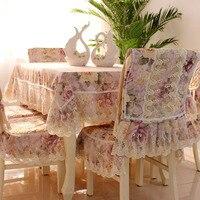 Роскошный кружевной ткани скатерть Европейский Garden арт цветок скатерть наволочки скатерть толстый зимний костюм