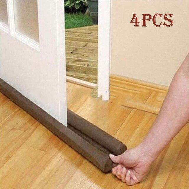 Charmant 4pcs Good Guard Wind Dust Blocker Sealer Stopper Insulator Door Window  Brown Interior Or Exterior Doors