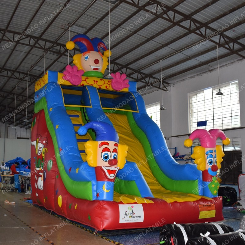 2018 New Design Clown Circus Inflatable Slide, Commercial Inflatable Slide  (free blower+repair kit)-in Inflatable Bouncers from Toys & Hobbies on