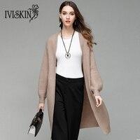 Wysokiej jakości nowych kobiet dzianiny sweter 2017 jesień i zima Koreański modelki długi sweter płaszcz