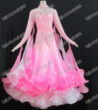 High Quality Waltz Tango dance Dress competitive Ballroom dance dress, crystal stones chacha,salsa dance ballroom dress B-0222