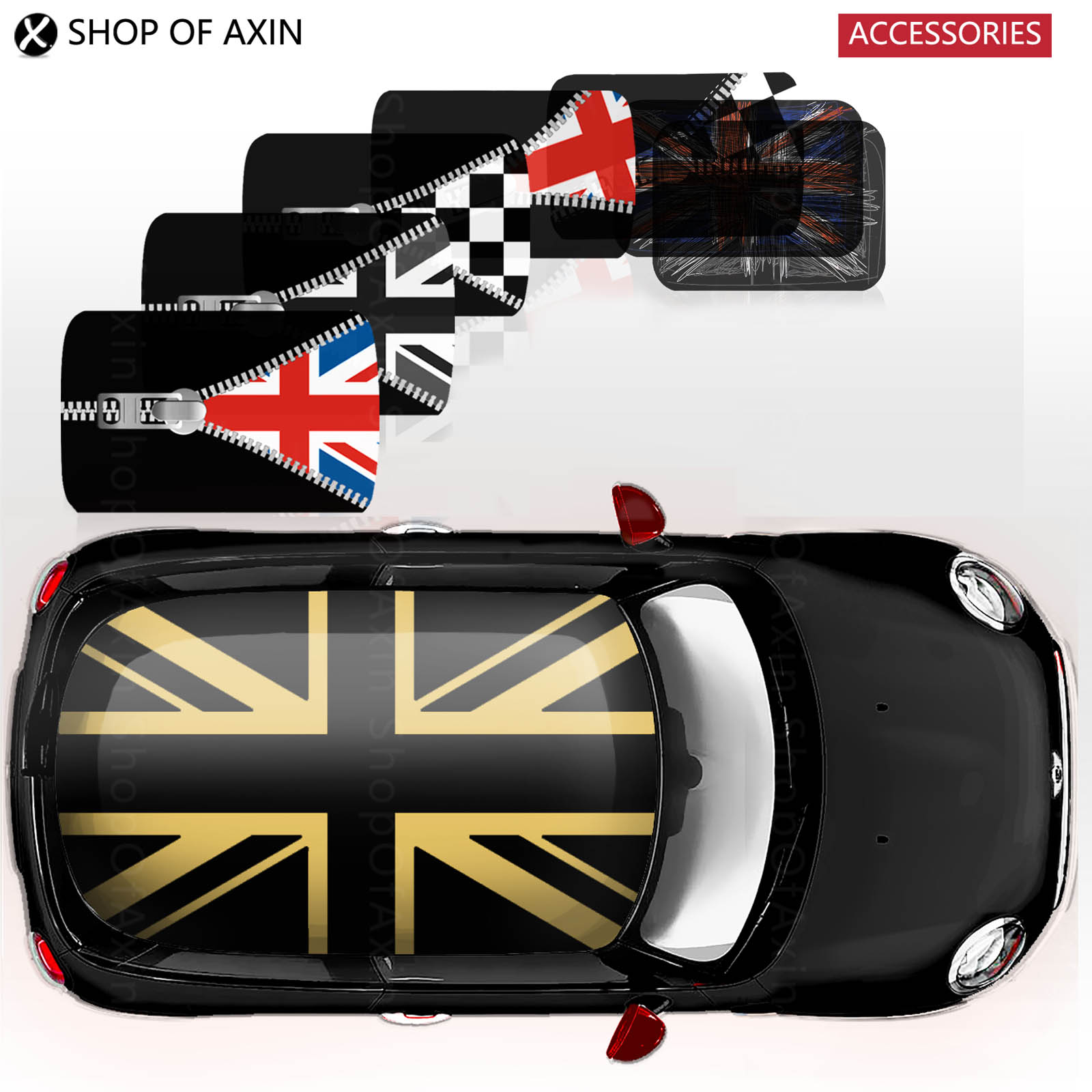 Kreative Voll Gesamte Abdeckung Dach Graphics Aufkleber Aufkleber Für Mini Cooper Clubman Ryman Hardtop R50 R53 R55 R56 R60 F55 F56