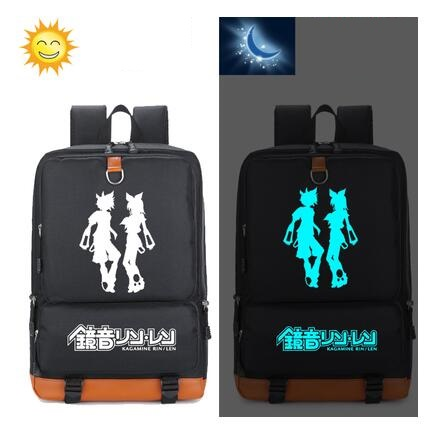 Anime Hatsune miku backpacks for teenage unisex large capacity backpack Anime unisex luminous Backpack a bagAnime Hatsune miku backpacks for teenage unisex large capacity backpack Anime unisex luminous Backpack a bag