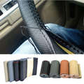 Diameter 38CM Advanced Hand-stitched Leather Universal Car Steering Wheel Protective Cover Car Styling Accessories