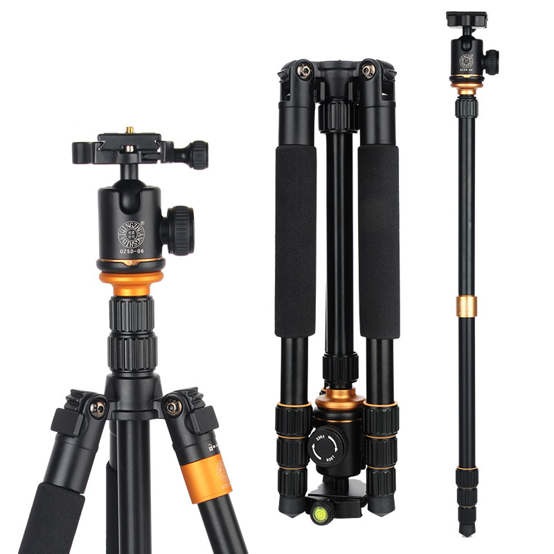 Hot Q999S Professional Photographic Portable Tripod Change Monopod For Digital SLR DSLR Camera with Ball Head