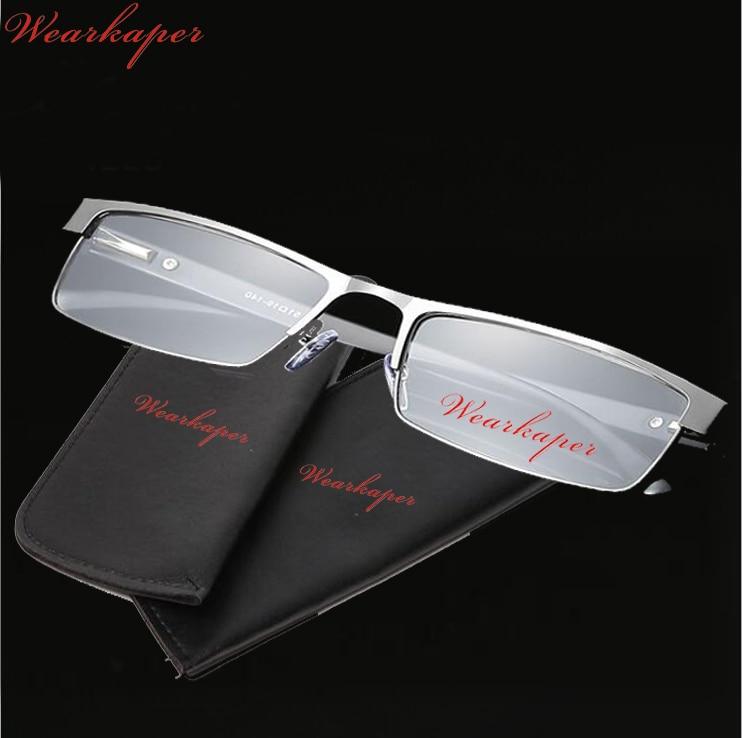 30253ebcb4 WEARKAPER Anti-fatiga De resorte De acero inoxidable bisagras marco Gafas  De Lectura Gafas De hombres con grado 1,25 1,75 Gafas De Lectura -  a.empyeria.me