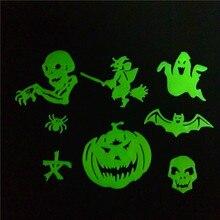 Luminous Fluorescent Decal Wall-Stickers Home-Decor Glow-In-The-Dark Kids Bedroom Halloween-Bat