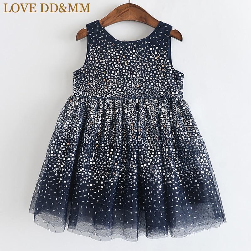 Image 2 - LOVE DD&MM Girls Dresses 2020 Summer New Childrens Wear Girls Fashion Gradient Sequins Mesh Sleeveless Sweet Princess DressDresses   -