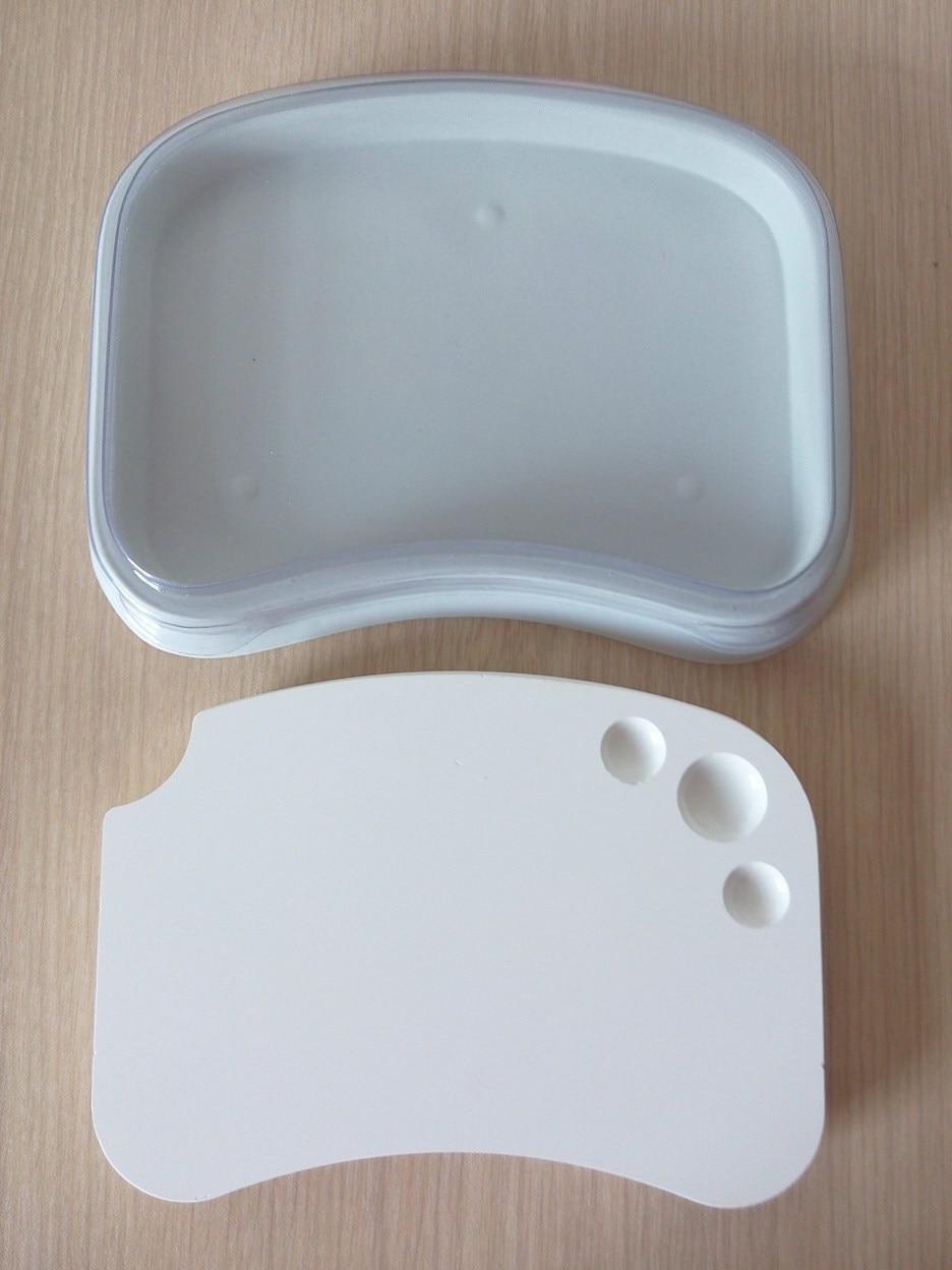 1ks Dentální laboratorní materiál Vysoce kvalitní mikroporézní porcelánová deska Zalévací deska mísící destička s práškovým míchacím nástrojem