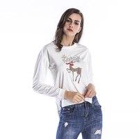 Women Hoodies Plus Size Winter Sweatshirts Womens Pullover Christmas Deer Hoodie Sudaderas De Mujer Irregular Clothing
