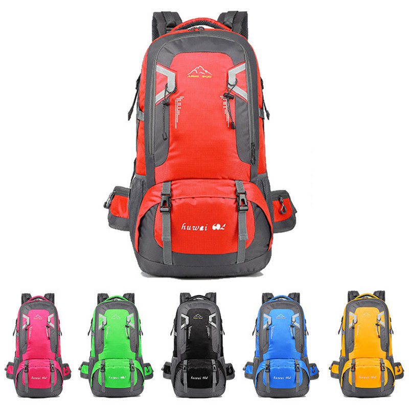 New 60l Capacity Outdoor Backpack Sports Travel Bags Mountaineering Bag Hiking Backpack Gifts