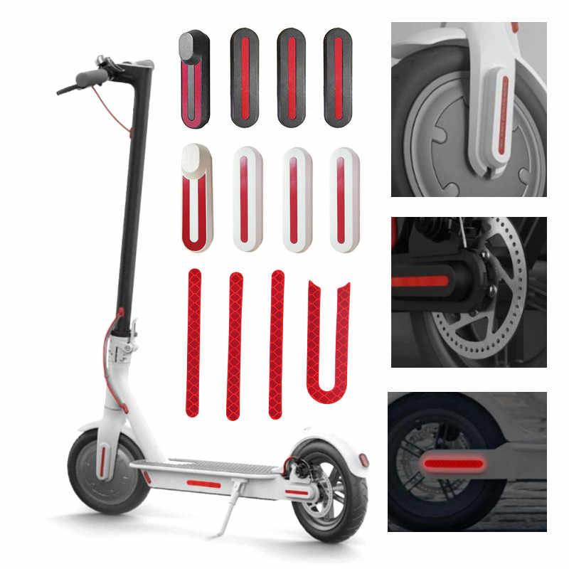 Nouveau autocollant réfléchissant de coque de protection de couverture de pneu de roue arrière avant pour les pièces de planche à roulettes de Scooter électrique de Xiaomi M365