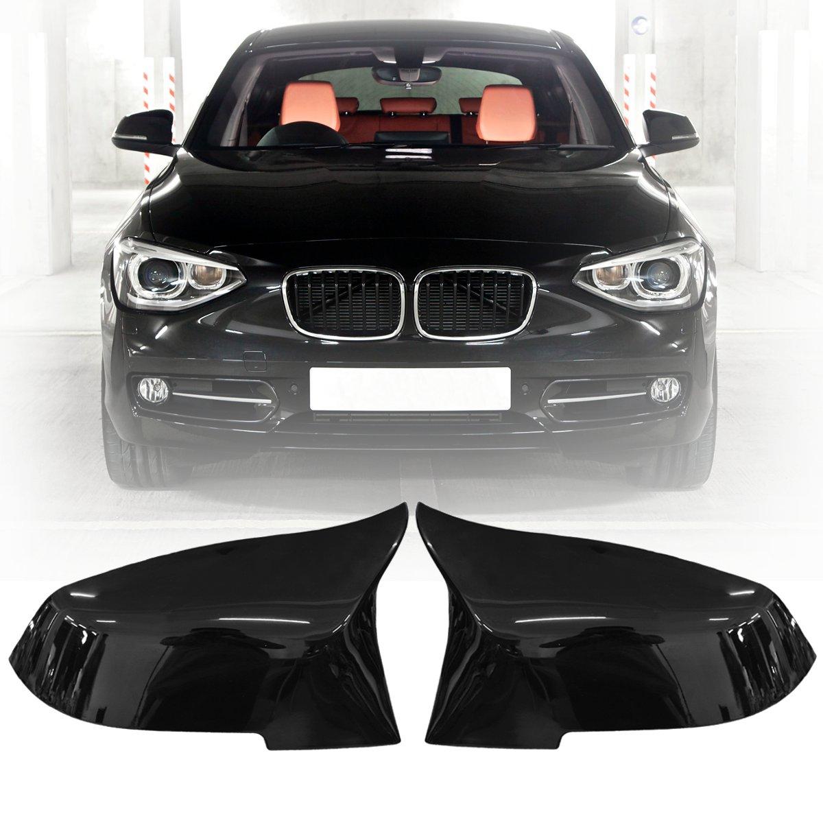 1 Pair Car Gloss Black Rearview Mirror Cover Cap For BMW F20 F21 F22 F30 F32 F36 X1 F87 M3 2012 2013 2014 2015 2016 2017 недорого