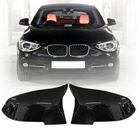 1 Pair Car Gloss Black Rearview Mirror Cover Cap For BMW F20 F21 F22 F30 F32 F36 X1 F87 M3 2012 2013 2014 2015 2016 2017