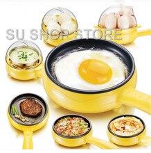 Многофункциональный бытовой мини яйцо омлет блины Электрический стейк сковорода с антипригарным вареные яйца котла пароход отключения