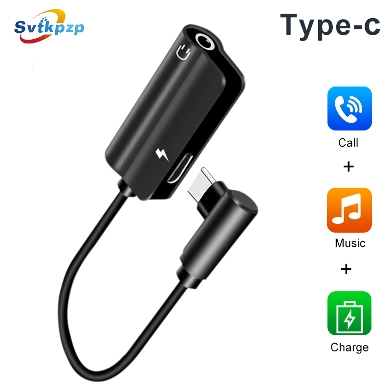 Type-c To 3.5mm AUX Earphone Audio Adapter USB Type C 3.5 Jack Charge Headphone Adapter For Huawei Xiaomi