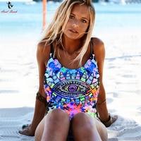 Ariel Sarah Brand Sexy Swimwear Women One Piece Swimsuit Eye Printing Bathing Suit Bodysuit One Piece