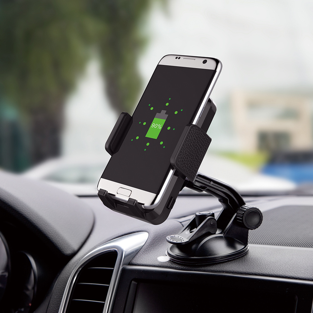 Vehicle wireless charging standard phone holder support QI wireless charging mobile phone universal wireless phone charging stan