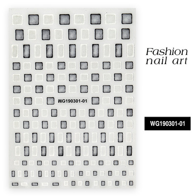 Fashion Newest WG 228 04 3d nail stickers Japan style back glue nail decals template DIY nail decorations for nail art in Stickers Decals from Beauty Health