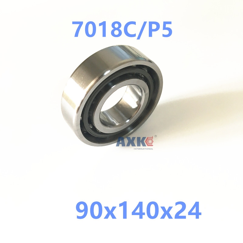1pcs AXK 7018 7018C 7018C/P5 90x140x24 Angular Contact Bearings Spindle Bearings CNC ABEC-5 1pcs 71822 71822cd p4 7822 110x140x16 mochu thin walled miniature angular contact bearings speed spindle bearings cnc abec 7