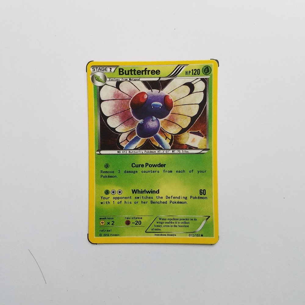 Pokemon Card Single Sale C20001 Butterfree Grass type STAGE 2 Ordinary Card Play Anime Toys Cards Game Trading Collection