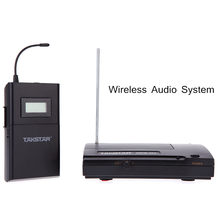 Takstar WPM-200 UHF Wireless Transmitter Receiver Wireless Monitor System In-Ear Stereo Headphones 50m Distance LCD 6 Channels(China)