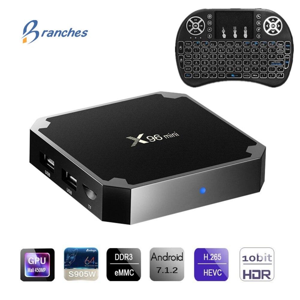 X96 mini tvbox Android 7.1 TV BOX 2 GB 16 GB Amlogic S905W Quad Core 2.4 GHz WiFi Media Player 1 GB 8 GB X96mini Set-top Box