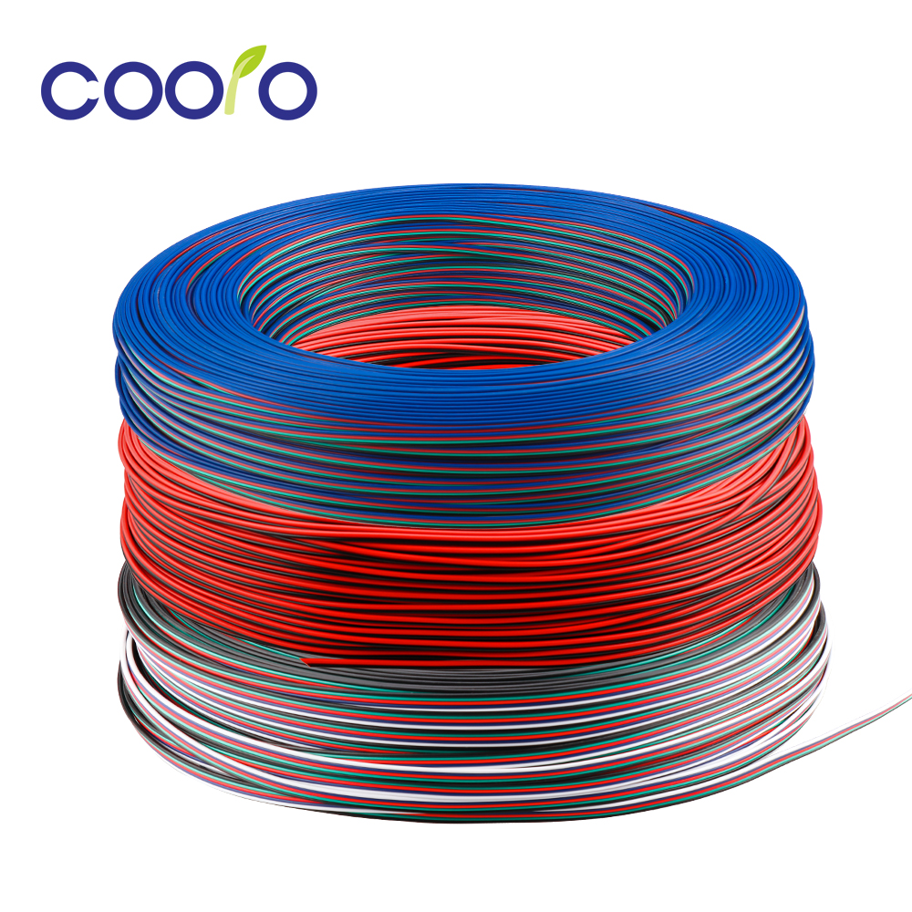 2pin 3pin <font><b>4Pin</b></font> 5pin 22 AWG Electrical Wire Tinned Copper Insulated PVC Extension LED Connector Wire <font><b>Cable</b></font> 1m/5m/10m image