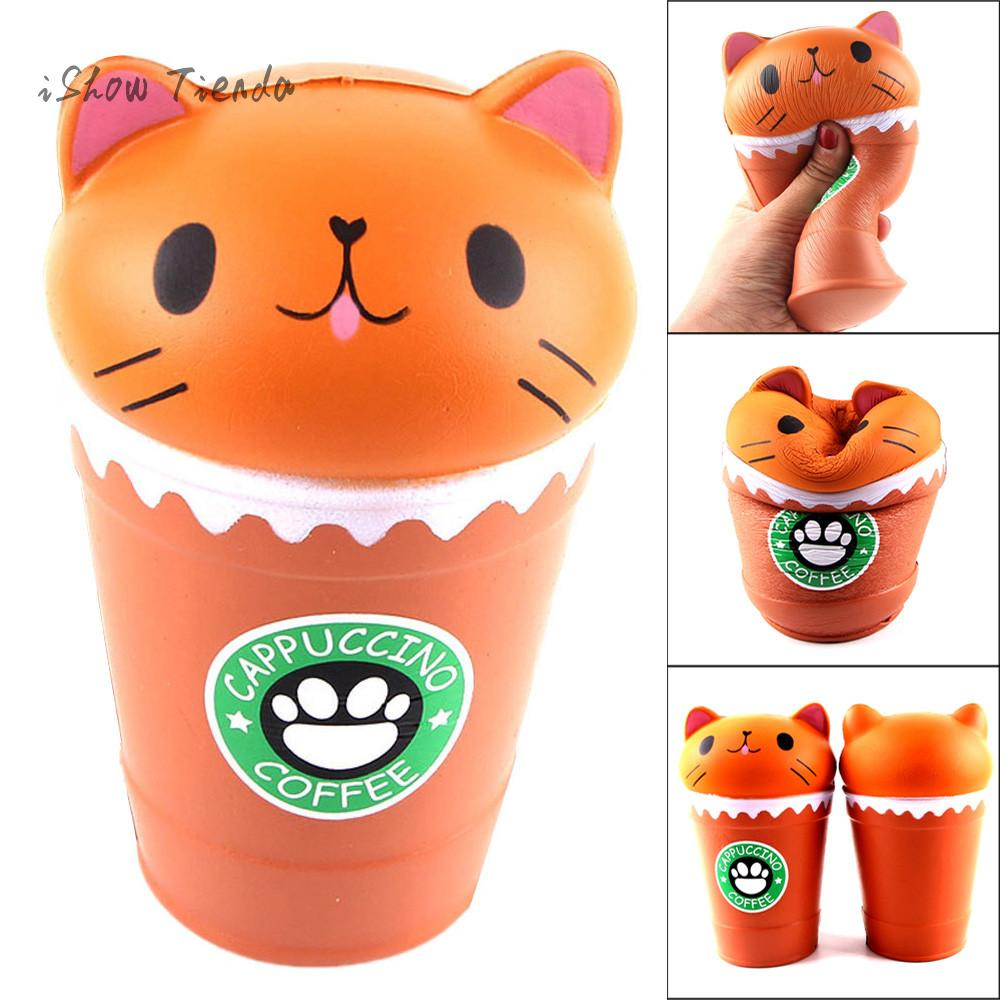 gifts14cm-cut-cappuccino-coffee-cup-cat-scented-squishy-slow-rising-squeeze-toy-collection-coffee-cup-cat-gift-gadgets