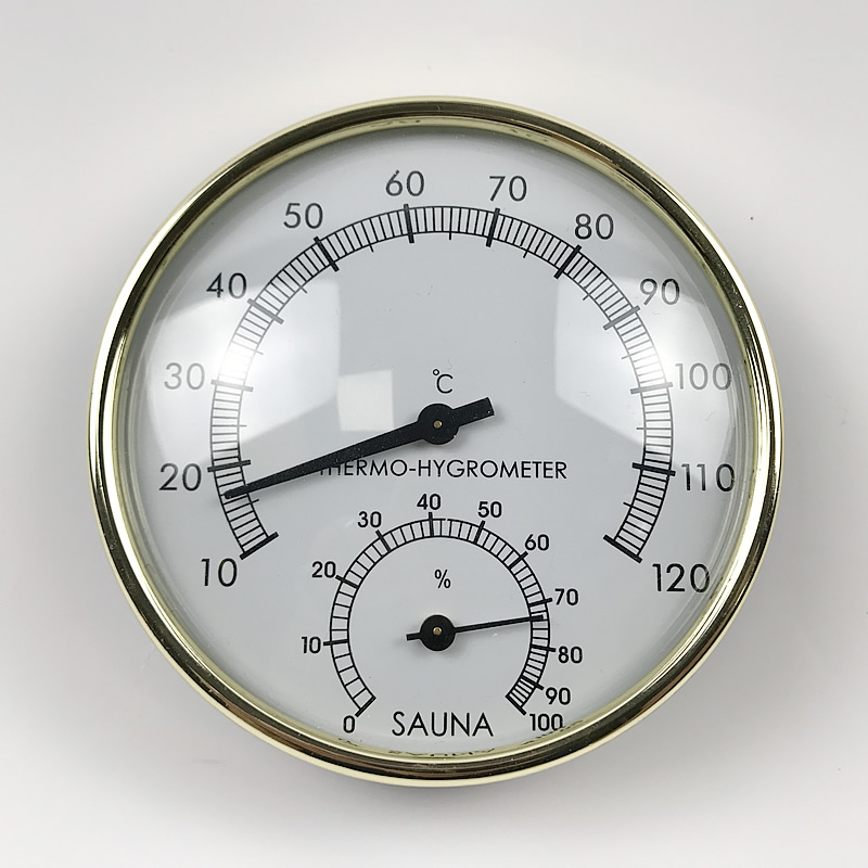 Stainless Steel Case Steam Room Thermometer Hygrometer Bath Sauna Indoor Stainless Steel Case Steam Room Thermometer Hygrometer Bath Sauna Indoor